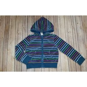 Gymboree Lots of Dots Striped Velour Hoodie